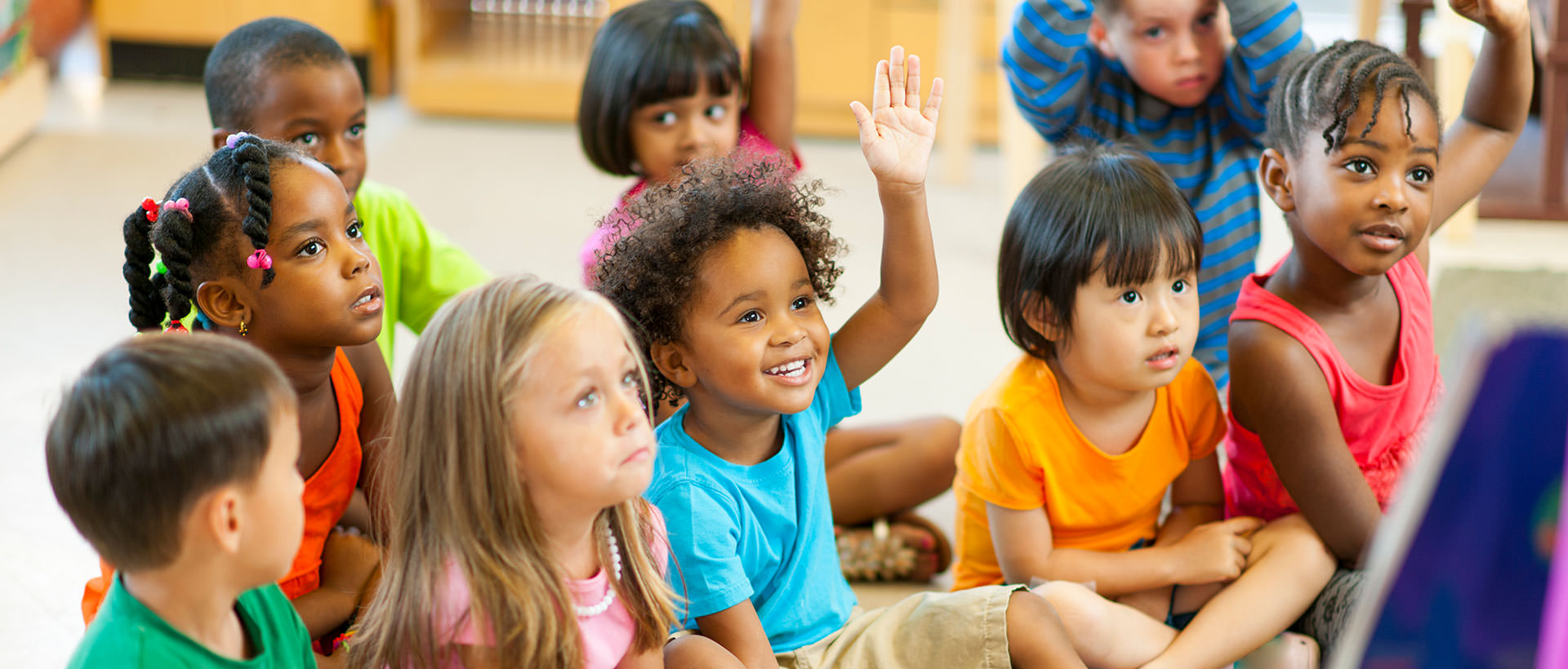 Kids waiting to be called on in class
